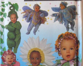 Andrea Schewe Costume Pattern - Baby Fairy, Peapod, Flowers - Simplicity 8273, Simplicity 0639 - Sizes 1/2-1-2-3-4, Chest 19 - 23, Uncut
