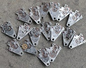 Vintage watch parts -- steam punk -- set of 17 -- D18