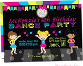 Girl Dance Party Invitations | Girl Dance Birthday Invitation | Girl Dance Invitation | Dance Invite | Dancing Girl Invitations #5003