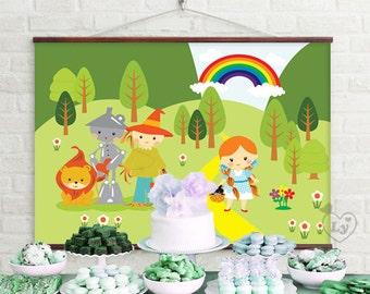 Wizard of Oz Printable Backdrop | Wizard of Oz Backdrop | Wizard of Oz INSTANT DOWNLOAD | Wizard of Oz Party | Wizard of Oz Birthday