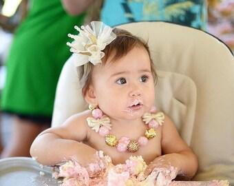 Birthday Headband, Birthday Crown, Birthday Tiara, Baby Crown Headband,  Tiara Headband