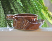 Soup and Cracker Bowl in Copper Glaze