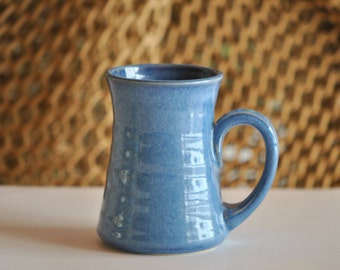 Pottery Mug in Deep Blue  10 ounce