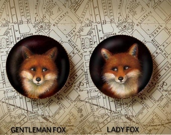 Fox Portrait Brooch - Animal Portrait - Fox Pin
