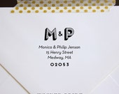 Personalized Return Address Stamp - Custom Initials Address Stamp - wood stamp - self-inking return address stamp - housewarming- engagement