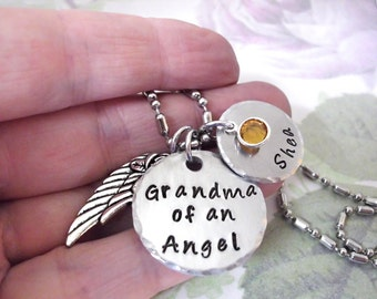 FLASH SALE TODAY Grandma of an Angel - Infant Loss - Memorial Jewelry - Child Loss - Miscarriage Memorial - Bereavement Jewelry