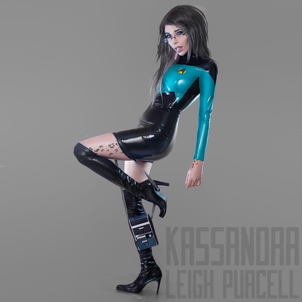 latex cosplay  star trek inspired tng  ds9 uniform dress