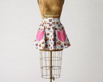 Womens Cupcake Half Apron Dora Apron