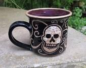 Ceramic Mug - skull with swirls