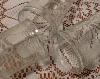 Vintage Jelly Jar Juice Glasses -  Star Jam Jar Glasses  -  15-793