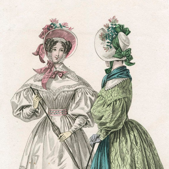 Romantic Era Bonnet.  Victorian, 1830's CUSTOM MADE. 'MATILDA' Cranford