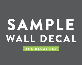Sample Wall Decal