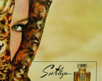 Genuine French 1960's Advert - Sortilége Perfume & Old Spice Mens Products