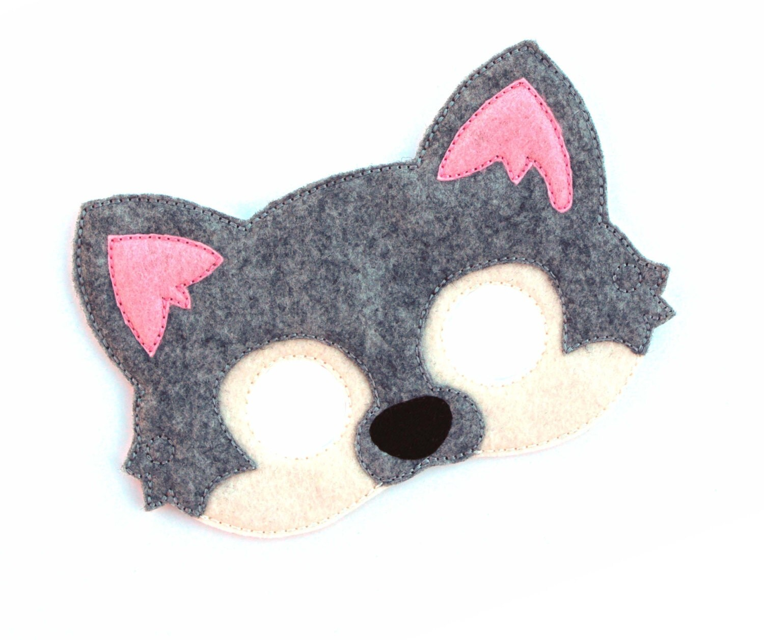 Cute wolf mask template for Dog mask template for kids
