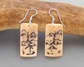 Caribou Antler Earrings – A Walk In The Woods