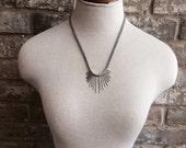 Mini Here Comes The Sun // sunburst necklace // minimal spikes // needles necklace // boho // tribal // modern