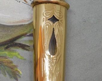 Art Deco FLAMBEAU Purse Perfume Bottle Miniature by Fabergé Touch Applicator    MCS28