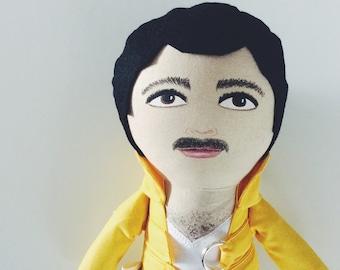 Freddie Mercury - handmadedoll - Freddie doll - Freddie Mercury doll - Queen