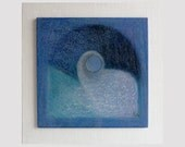 Fine art original painting, small abstract wood painting, wood art, harmony