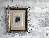Vintage Metal Scroll Frame