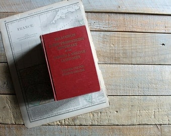 Antique French / English Dictionary