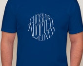 Adoption Fundraiser t-shirt -  royal blue super soft tee with hand-lettered design