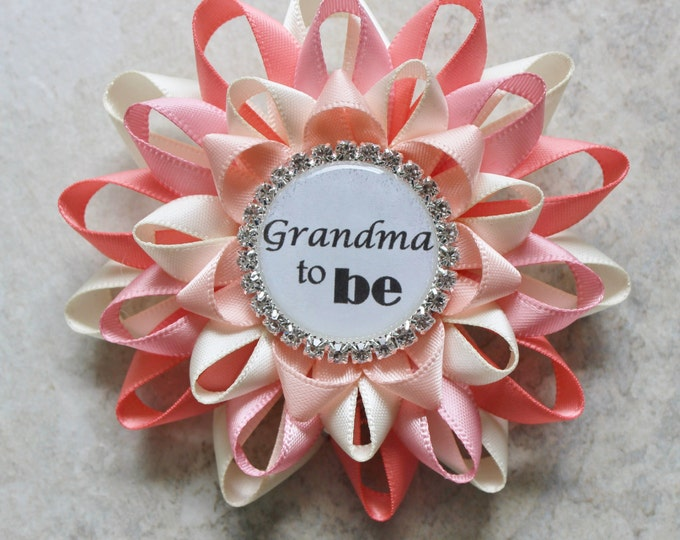 Grandma to Be Pin, Personalized Baby Shower Corsage, New Grandma Corsage, Aunt to Be Gift, Great Grandma to Be Corsage, Daddy to Be, Sister