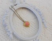 Heart Locket Necklace, Flower Locket, Flower Necklace, Golden Locket, Vintage Locket, Secret Compartment Necklace, Photo Locket, Tiny Locket