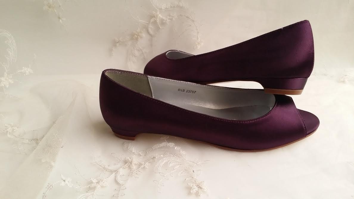 Wedding Kitten Heels: Eggplant Purple Wedding Shoes Kitten Heel Bridal Shoes