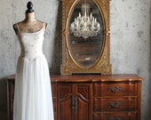 HOLLYWOOD, Vintage White Shabby Chic Mirror French Country Vanity Mirror