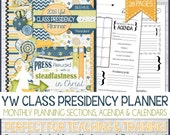 2016 YW CLASS Presidency Planner Organizer, LDS, Press Forward with a Steadfastness in Christ, Young Women - Printable Instant Download