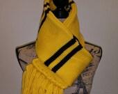 Harry Potter inspired upperclass Hufflepuff scarf