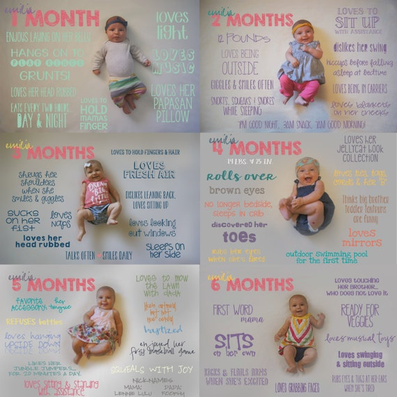 Italian Boy Name: Monthly Baby Milestone Designs Great Gift Idea For New Moms