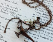 Magical Fantasy Genie Lamp Bronze Hanging Charms Cute  Jewelry Necklace