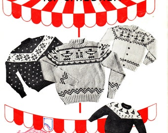 PLAYTIME SWEATERS For Children NOMIS Vol 21 Cardigan and Pullovers