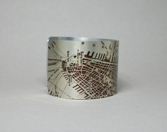 Map Bracelet New York City NYC Manhattan West Side Highway Unique Travel Going Away Gift for Men or Women