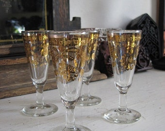 Set of Four Sherry Glasses