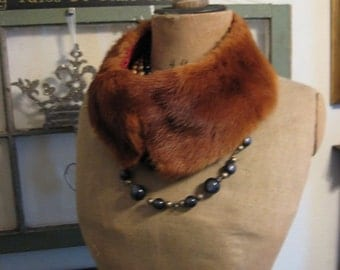 Mink Fur Collar 1940's-1950's era