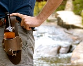 Leather Beer Holster Dark Brown, The Plano