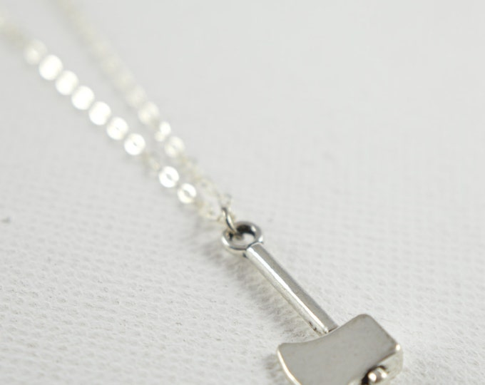 Axe Charm Necklace, Zombie Vampire Hunter Creepy Cute Necklace, Funky Necklace, Funny Necklace, Geek Chic, Halloween, Gothic Jewelry