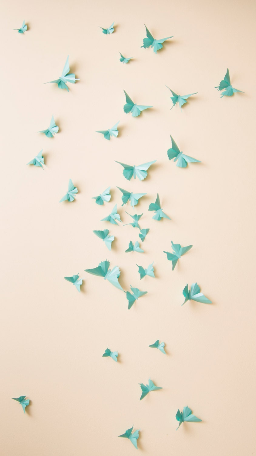 Hanging Butterfly Wall Decor : D butterfly wall decor butterflies nursery
