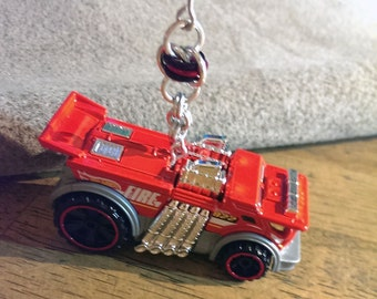 Hot Wheels Ornament Backdrafter (Hot Rod Fire Truck) Red