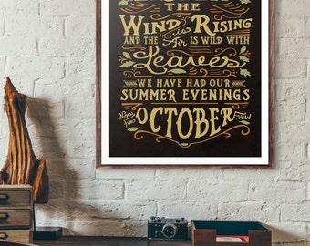 October Eves Print