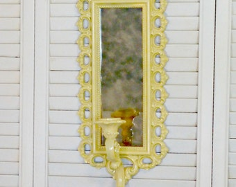 Upcycled Vintage Candle Sconce