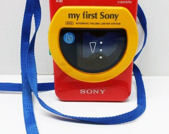 Vintage My First Sony Walkman Portable Cassette Tape Player