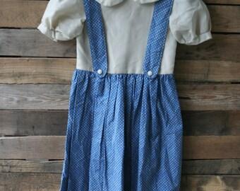 Vintage Blue & Beige Gingham Dress
