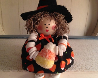 Witch Button Doll