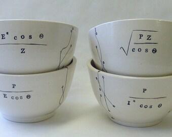 Four Ohm's AC Law Porcelain Bowls