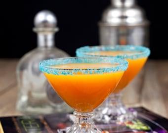 Margarita salt - teal colored salt - rim salt, cocktail salt, sea salt, fiesta party drinks margarita glasses, mermaid party food, blue salt