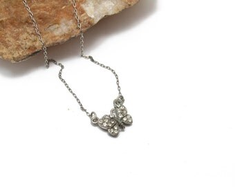Butterfly Crystal Pendant Necklace